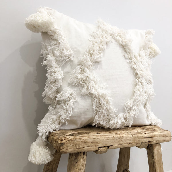 Willow & Beech Collection - Ostara Fringe Cushion Cover 45x45cm