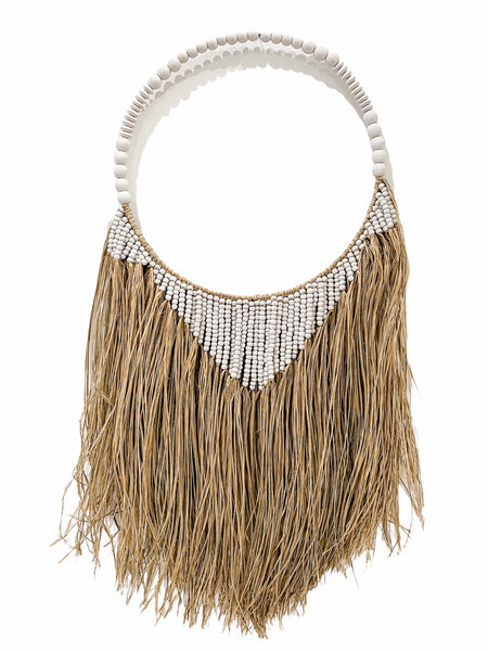 Maui Hula Wall Hanging | Single Hoop | White
