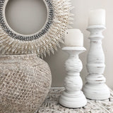 Whitewash Candle Sticks