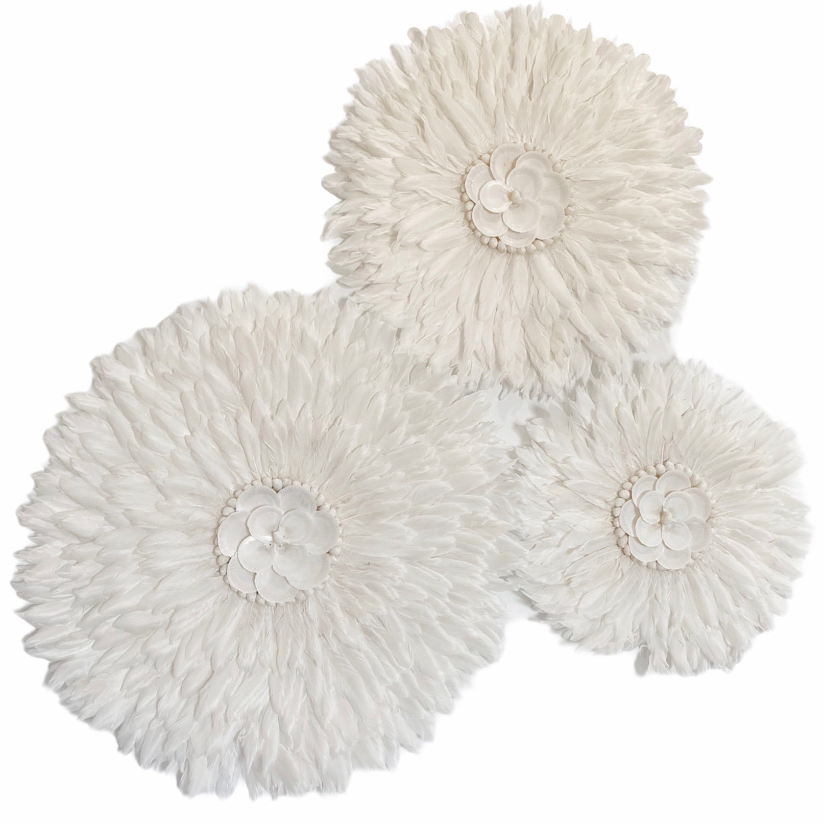 White Flower Jujus Set of 3