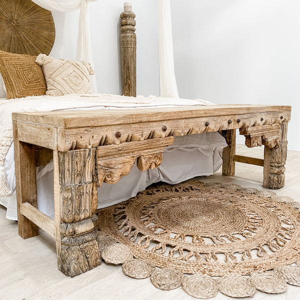 Vintage Indian Bench - Bleached