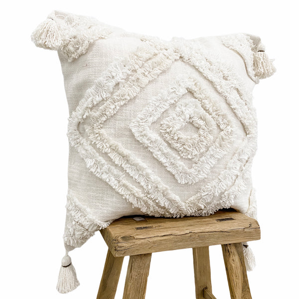 Farah Cushion Cover | White | 50x50cm | Willow & Beech Desert Collection