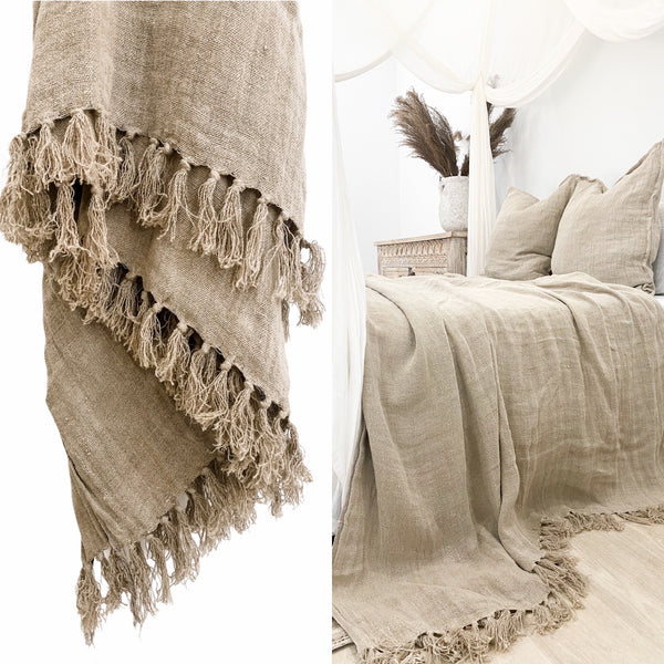 Christophe Linen Throw Blanket | 160x220cm