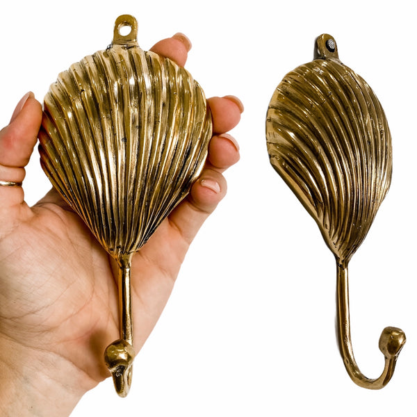 Brass Cockle Shell Wall Hook