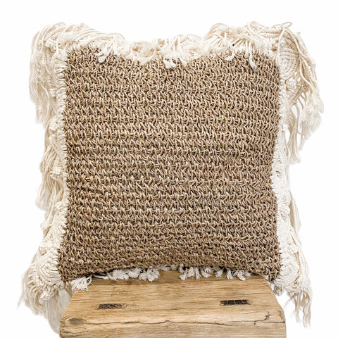 Summer Breeze Square Cushion | Seagrass