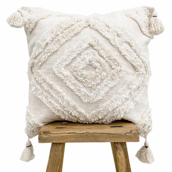 Farah Cushion Cover 50x50cm White - Willow & Beech Desert Collection