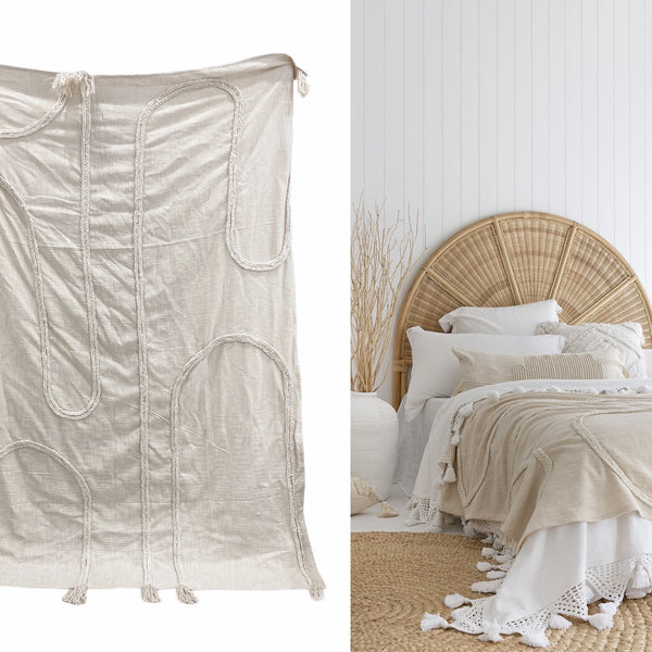 Buchra Throw Blanket | 140x190cm | Willow & Beech Desert Collection