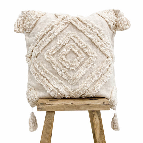 Farah Cushion Cover 50x50cm Natural - Willow & Beech Desert Collection