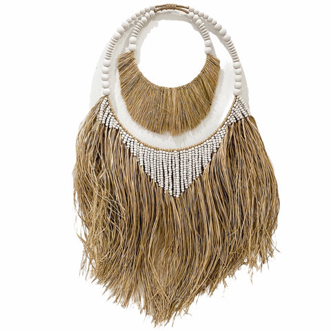Maui Hula Wall Hanging | Double Hoop | White