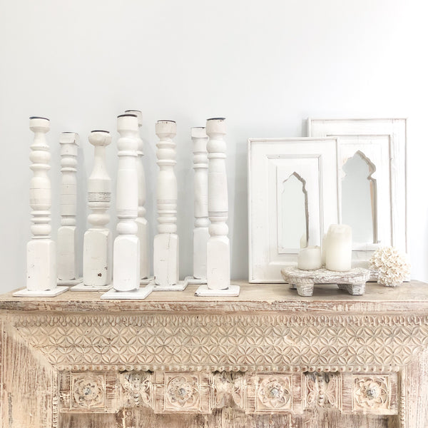Indian Bed Leg Candle Sticks