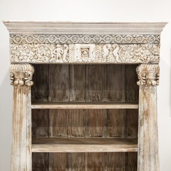 Carved Indian Bookcase