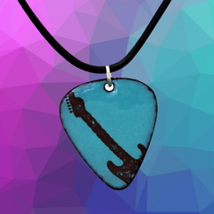 guitar pick shaped necklace