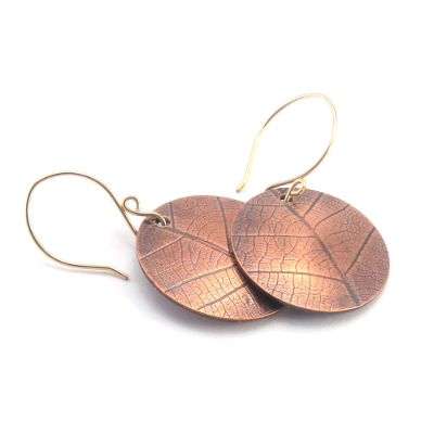 leaf print earrings
