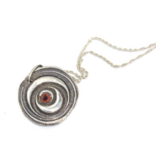 Load image into Gallery viewer, Fine Silver Garnet Necklace
