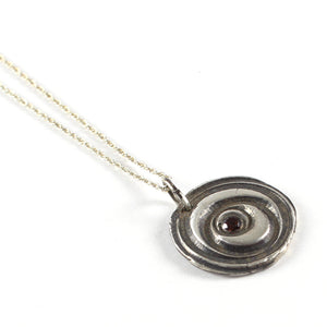 Fine Silver Garnet Necklace