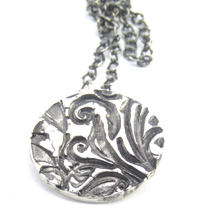 Load image into Gallery viewer, Fine Silver Floral Necklace