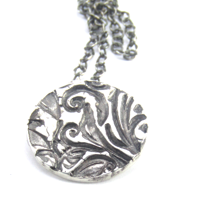 Fine Silver Floral Necklace