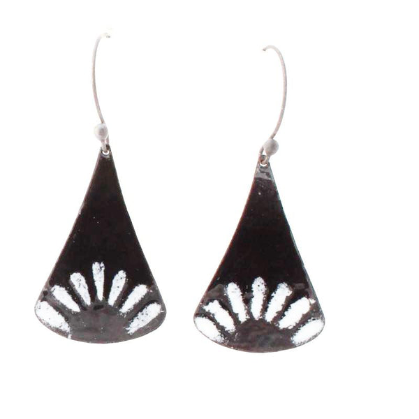 contemporary black and white earrings