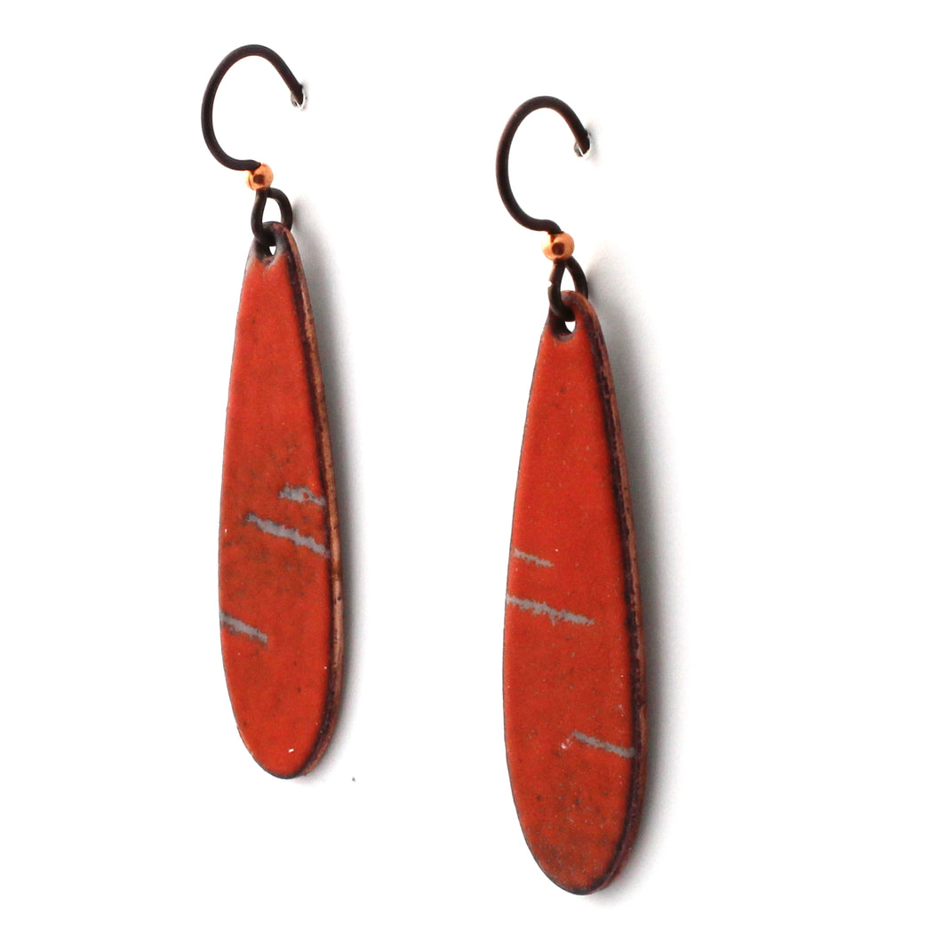 orange handmade earrings