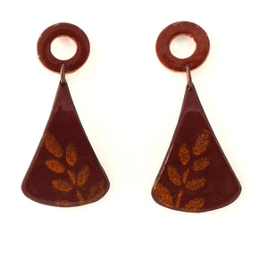 leaf boho earrings