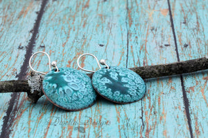 Turquoise earrings with sterling silver ear wires
