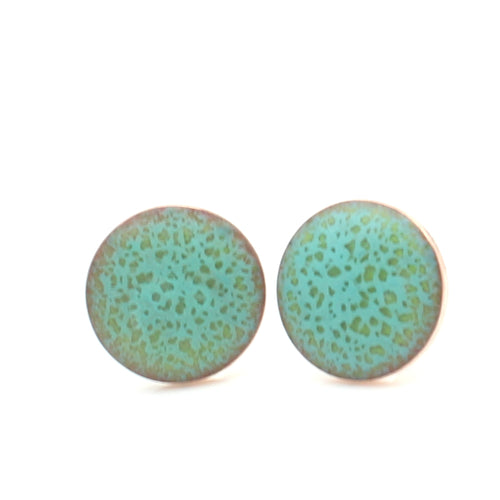 light green stud earrings