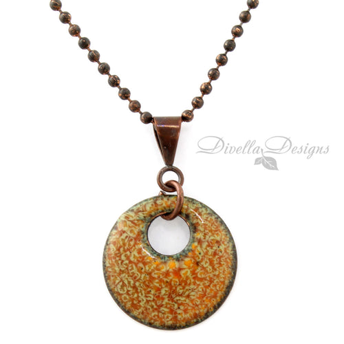 Autumn Inspired Round Necklace