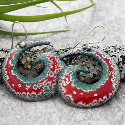 Spiral Earrings Holiday
