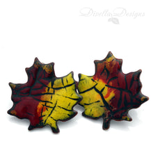Load image into Gallery viewer, maple leaf studs