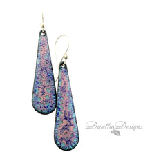 Load image into Gallery viewer, Teardrop Earrings Blue & Tallow