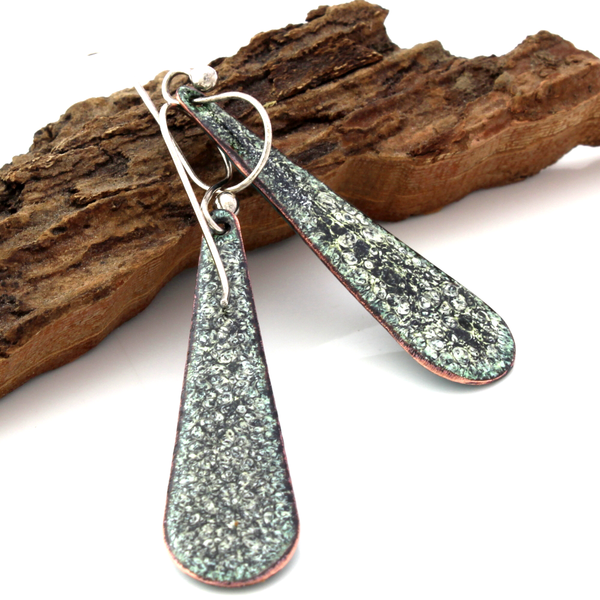 backs of Teardrop Earrings with niobium ear wires