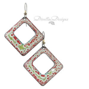 gypsy style square boho earrings