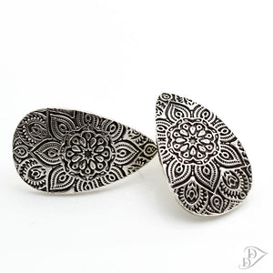 fine silver mandala earrings