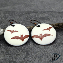 Load image into Gallery viewer, flying bats earrings