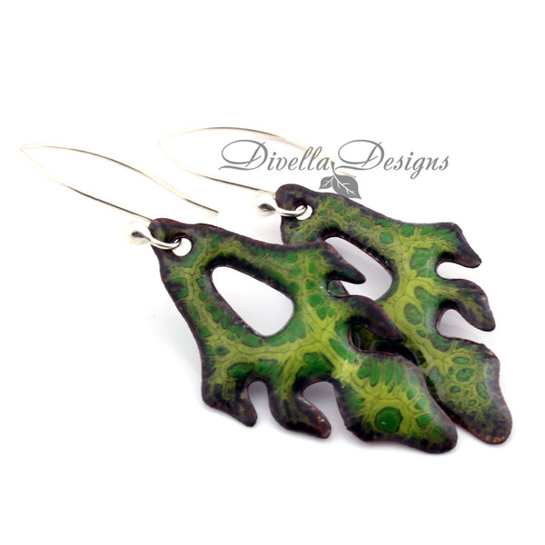 Green Nature inspired earrings