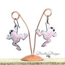 Load image into Gallery viewer, frog earrings by divelladesigns.com