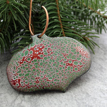 Load image into Gallery viewer, red and green ornament with tree