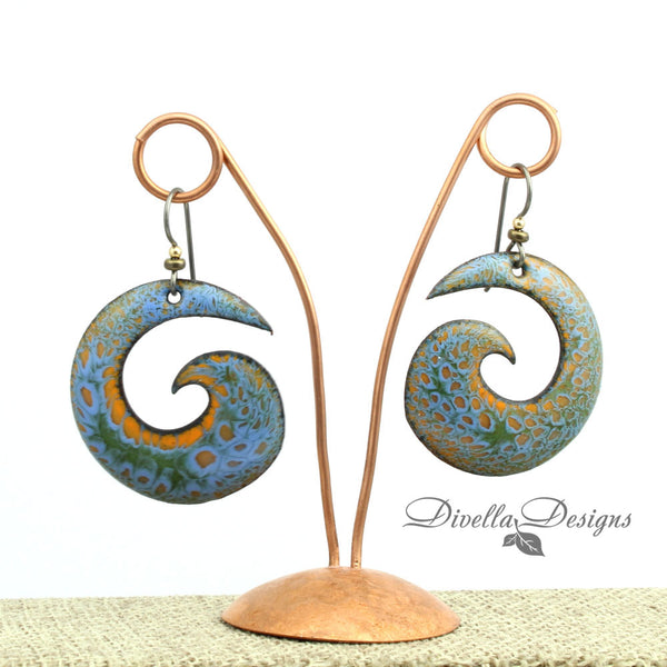contemporary vitreous enamel earrings by dievlladesigns.com