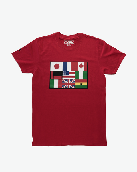 Red FUBU Flag International T-shirt