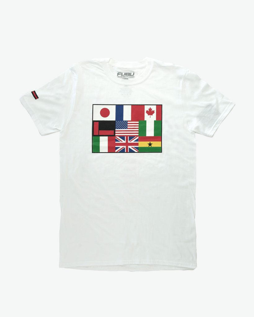 White FUBU Flag International T-shirt