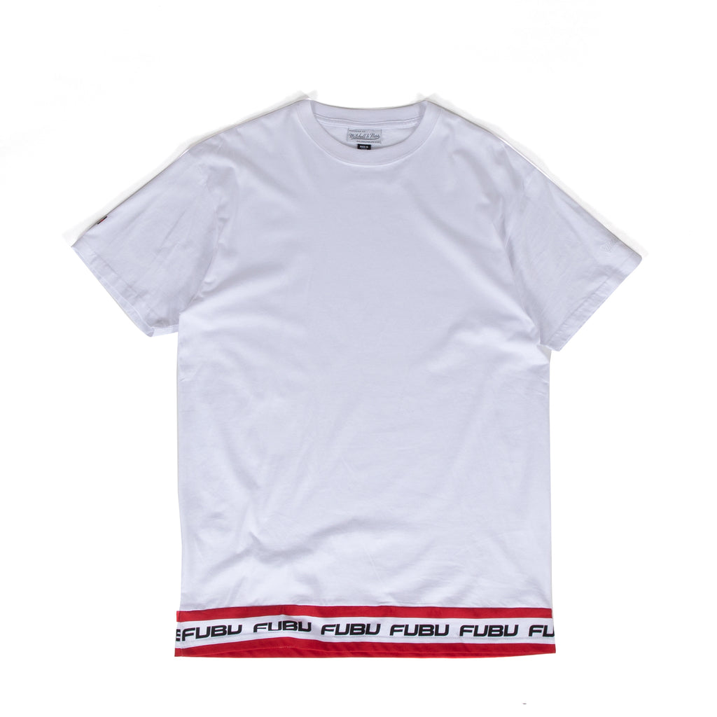 MNFB White Taped Waist Tee