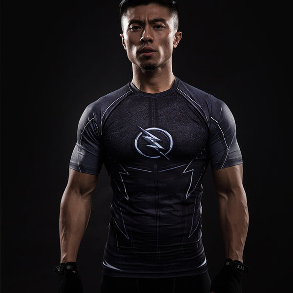Men's Black Flash Compression Shirt - Prohero Store