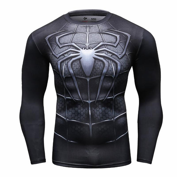 Men's Spiderman Venom Compression Long Sleeve Shirt - Prohero Store