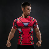 Men's Ironman Compression Short Sleeve Shirt - Prohero Store