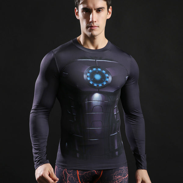 Men's Ironman Black Compression Long Sleeve Shirt - Prohero Store