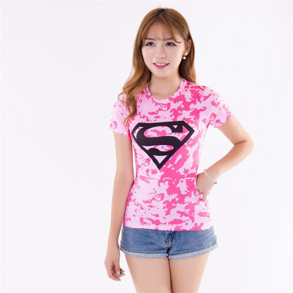 Women's Superman Compression Short Sleeve Compression Shirt - Prohero Store