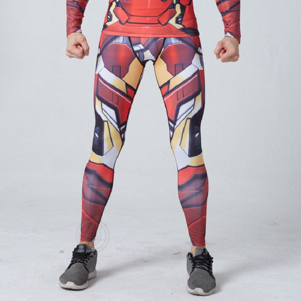 Men's Iron Man Gym Compression Leggings Pants - Prohero Store