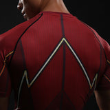 Men's Flash Red Compression Short Sleeve Shirt - Prohero Store