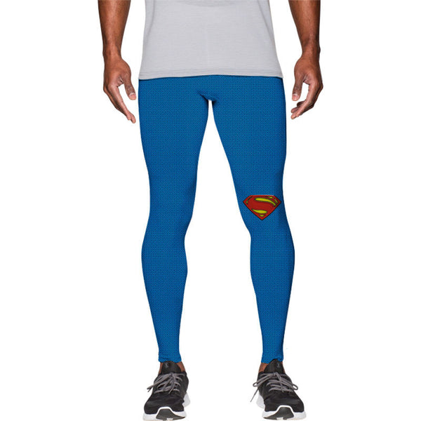 Men's Superman Gym Compression Leggings Pants - Prohero Store