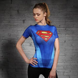 Women's Superman Compression Short Sleeve Shirt - Prohero Store